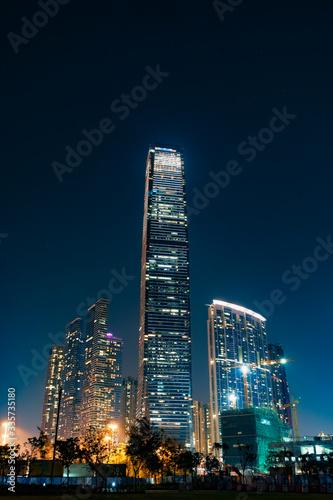 Night of International Commerce Centre in Hong Kong Wallpaper Mural