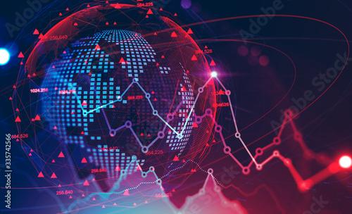 Global financial crisis concept, stock market - fototapety na wymiar