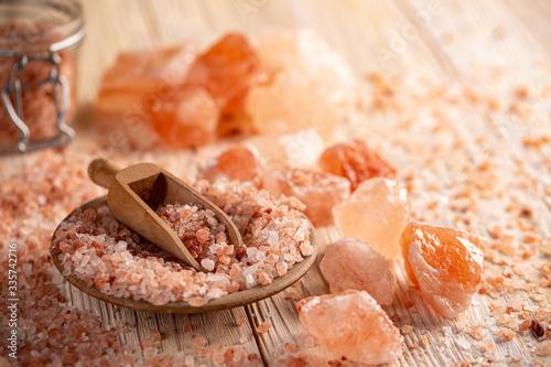 Foto Himalayan pink rock salt