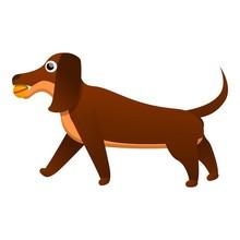 Happy Dachshund Icon. Cartoon ...
