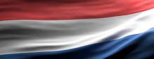 Netherlands National Flag Waving Texture Background. 3d Illustration