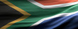 canvas print picture - San South Africa national flag waving texture background. 3d illustration