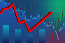 Growing Charts Symbolize A Reb...