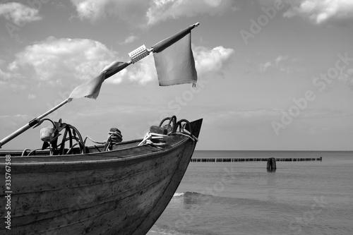 Obraz Fischerboot auf Usedom, Ostsee - fototapety do salonu