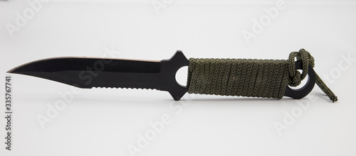 Obraz na plátně steel hunting knife with serrated edge
