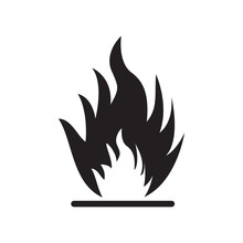 Flammable Icon Vector Illustra...
