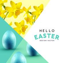 Patterned Easter Background La...