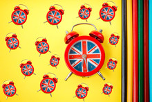 English Clock With The Colors ...