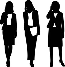 ビジネス 女性 シル...