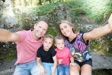 Selfie Photo Of Happy Family O...
