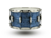 Blue Drum Isolated On White