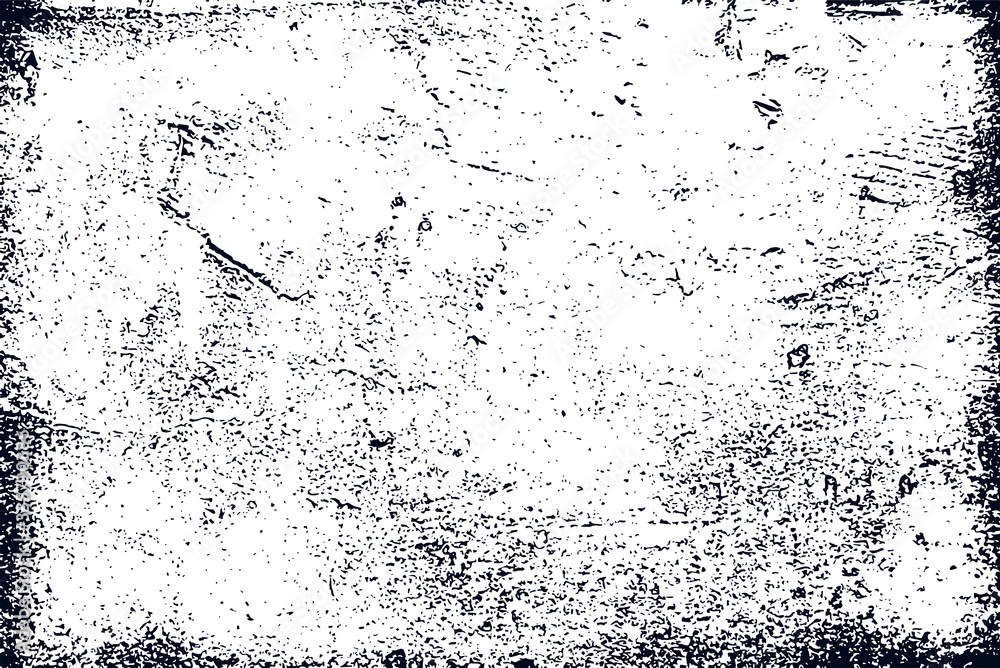 Fototapeta Realistic grunge texture high quality vector trace, grungy old dirty texture for design background.