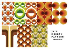 [70's Seamless Pattern Set]  Vector Illustration