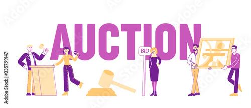 Auction Concept Canvas Print