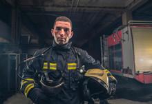 Portrait Of A Fireman Wearing ...