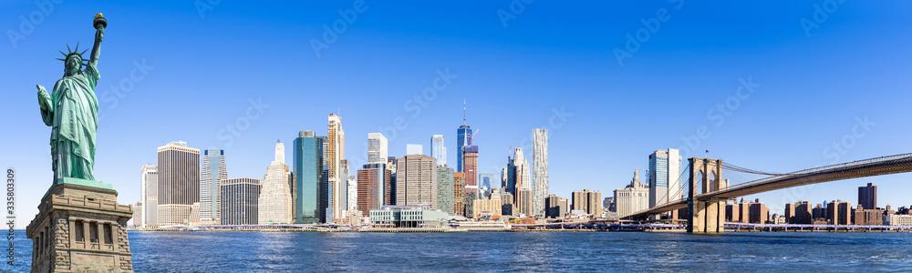 Fototapeta Panorama lower manhattan New York