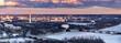 canvas print picture - Washington DC sunset