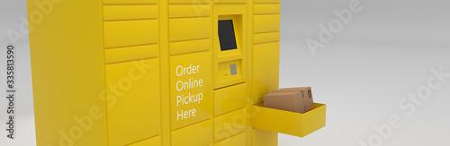 Order online service delivery pickup self-service locker, grocery, parcel delive Fototapeta