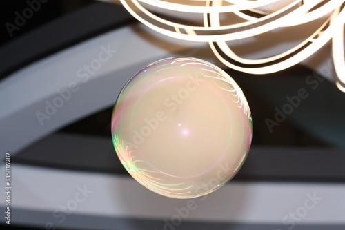 bańka mydlana bańka dymna kolorowe bańki Canvas Print