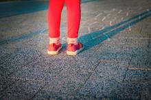 Little Girl Playing Hopscotch, Kids Play Outdoors