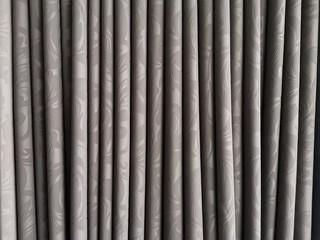 Gray Velvet Textile Curtains Background.