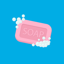 Bar Of Soap With Foam Isolated...