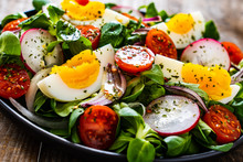 Salad With Boiled Egg And Vege...