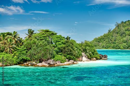 Fototapety, obrazy: Overlook of Seychelles landscape, Mahe island