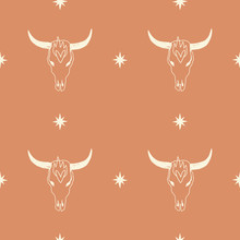 Boho Seamless Pattern With Bul...
