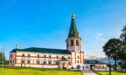 Leinwand Poster The Iversky monastery in Valdai - Novgorod Oblast, Russia