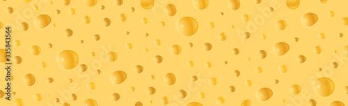 Fototapeta A piece of cheese in a cut  obraz