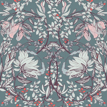 Seamless Floral Vector Pattern...