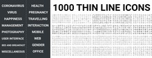 Big Set Of 1000 Thin Line Icon...