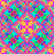 canvas print picture - Psychedelic hallucinogenic ornament. The illustration is fantastic. Magical bright unusual pattern. Suitable for printing on textiles, wallpaper, dresses, t-shirts, leggings, paper, fabrics