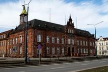 Budynek Poczty W Mieście Elbląg