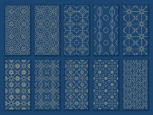 Big Set Seamless Oriental Patterns. Islamic Patterns With Arabic And Moroccan Ornaments And Motif For Ramadan Mubarak