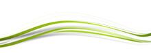 Welle Grün Wellen Band Banner Hintergrund Background Streifen