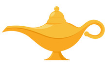 Lamp Aladdin Magic Vector Icon...