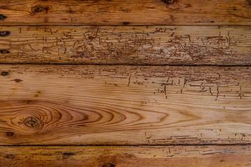 Stare, zniszczone przez korniki deski, całe tło
