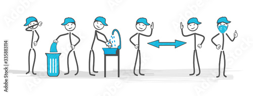 Leinwand Poster coronavirus gestes barrières