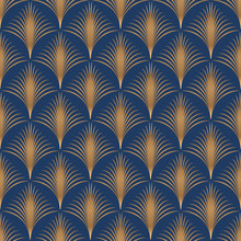 Abstract Geometric Pattern With Art Deco Thin Lines.