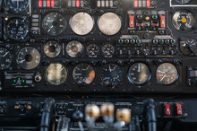 Parts Of The Cargo Plane AN-26. Control Panel In The Cockpit