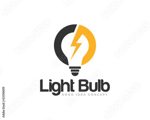 Photographie Light Bulb Logo Icon Design Vector