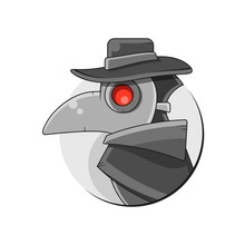 Plague Doctor Mask Vector Suitable For Greeting Card, Poster Or T-shirt Printing.