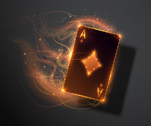 Ace Card With Fire Effect, Pok...