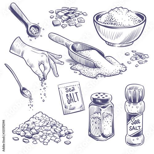 Sketch sea salt Fotobehang