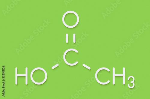 Fotografie, Tablou Acetic acid molecule