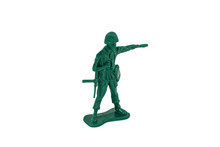 Green Toy Soldiers On White Ba...