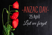 Anzac Day. Greeting Card With ...