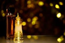 Glass Perfume Bottle Dark Back...